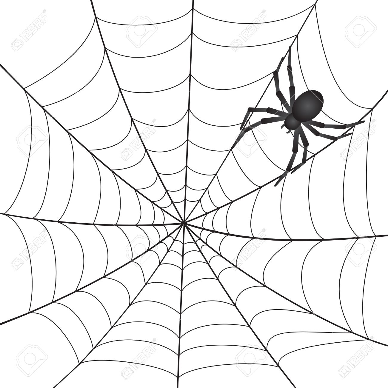 Spider Web Spiders Web Clip Art Clipart Clipartcow