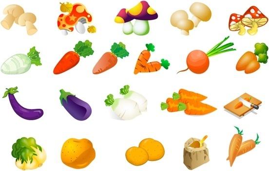 Clip Picking Art Vegetables