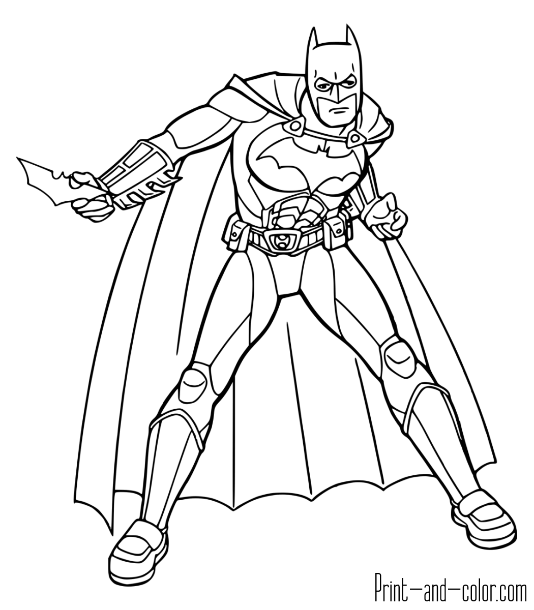 Batman Coloring Pages Batmanloring Pages Print Andlor