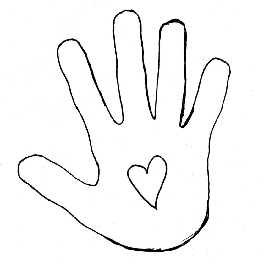 best hand outline #2693  clipartion