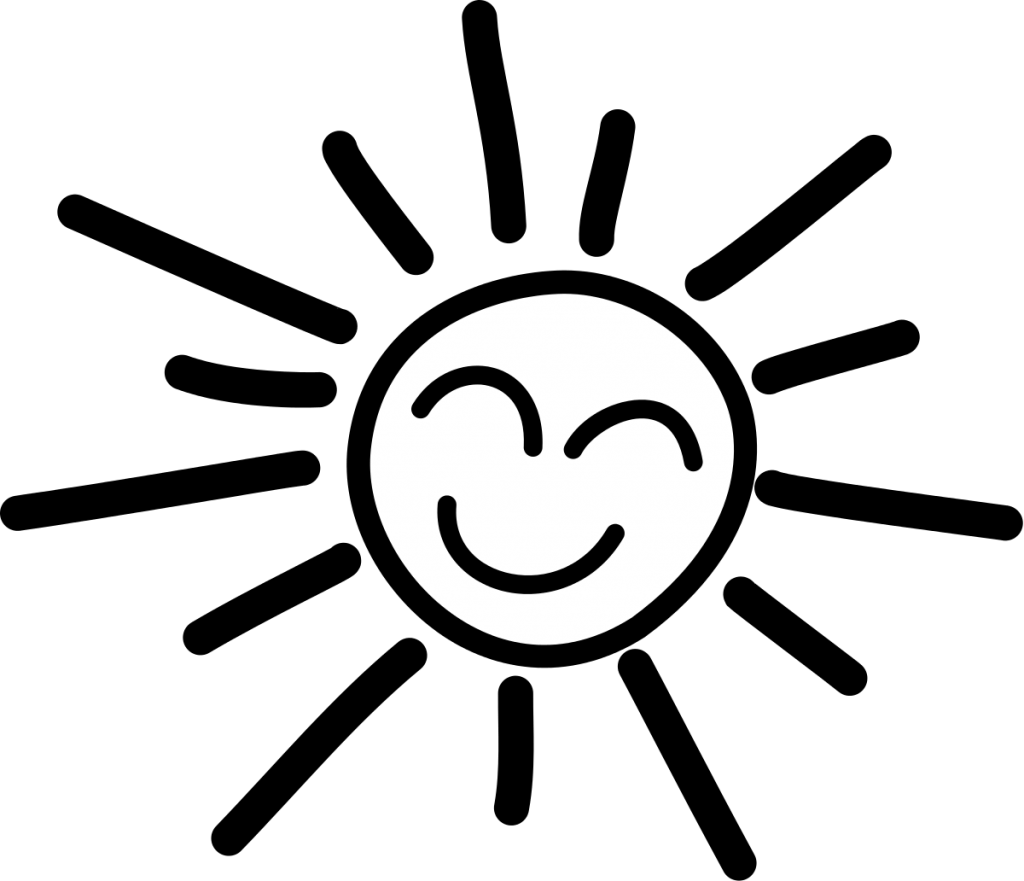 Best Sun Clipart Black And White