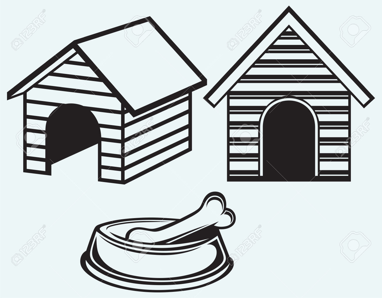 Best Dog House Clipart