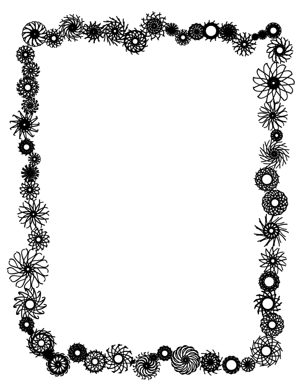 And And Hat Art White Clip Frames Black Borders