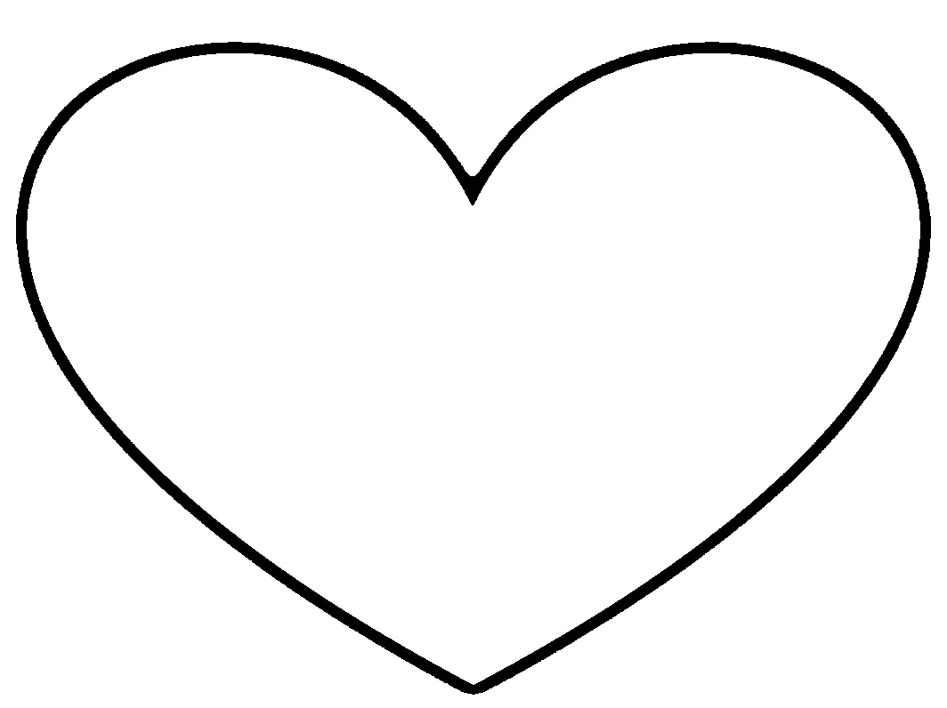 Best Black And White Heart Clipart