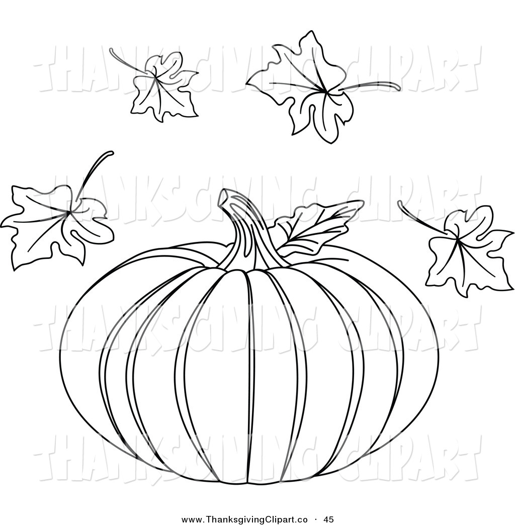 Best Fall Leaves Clip Art Black And White