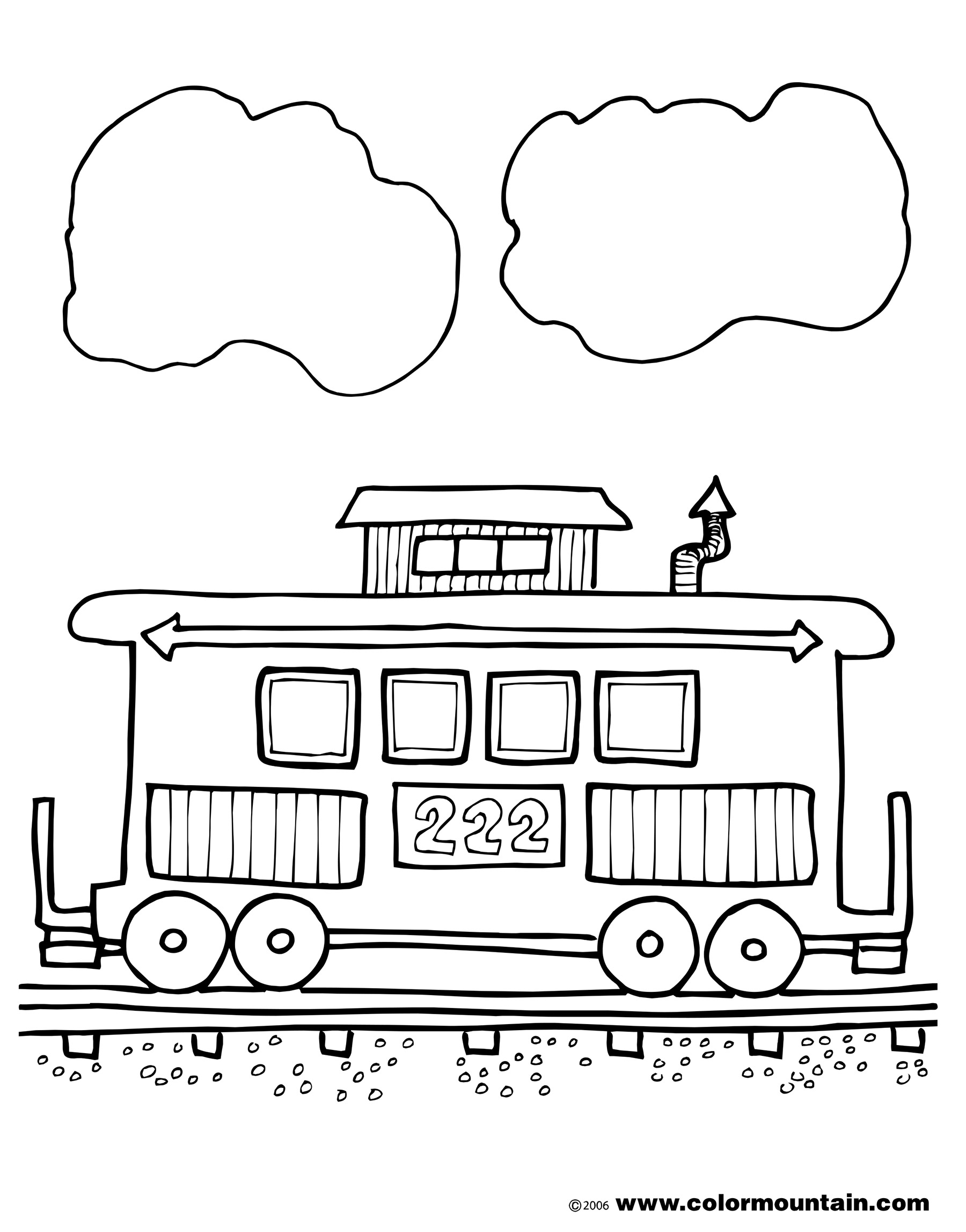 Coloring Pages Of Trains And Cabooses Coloring Page