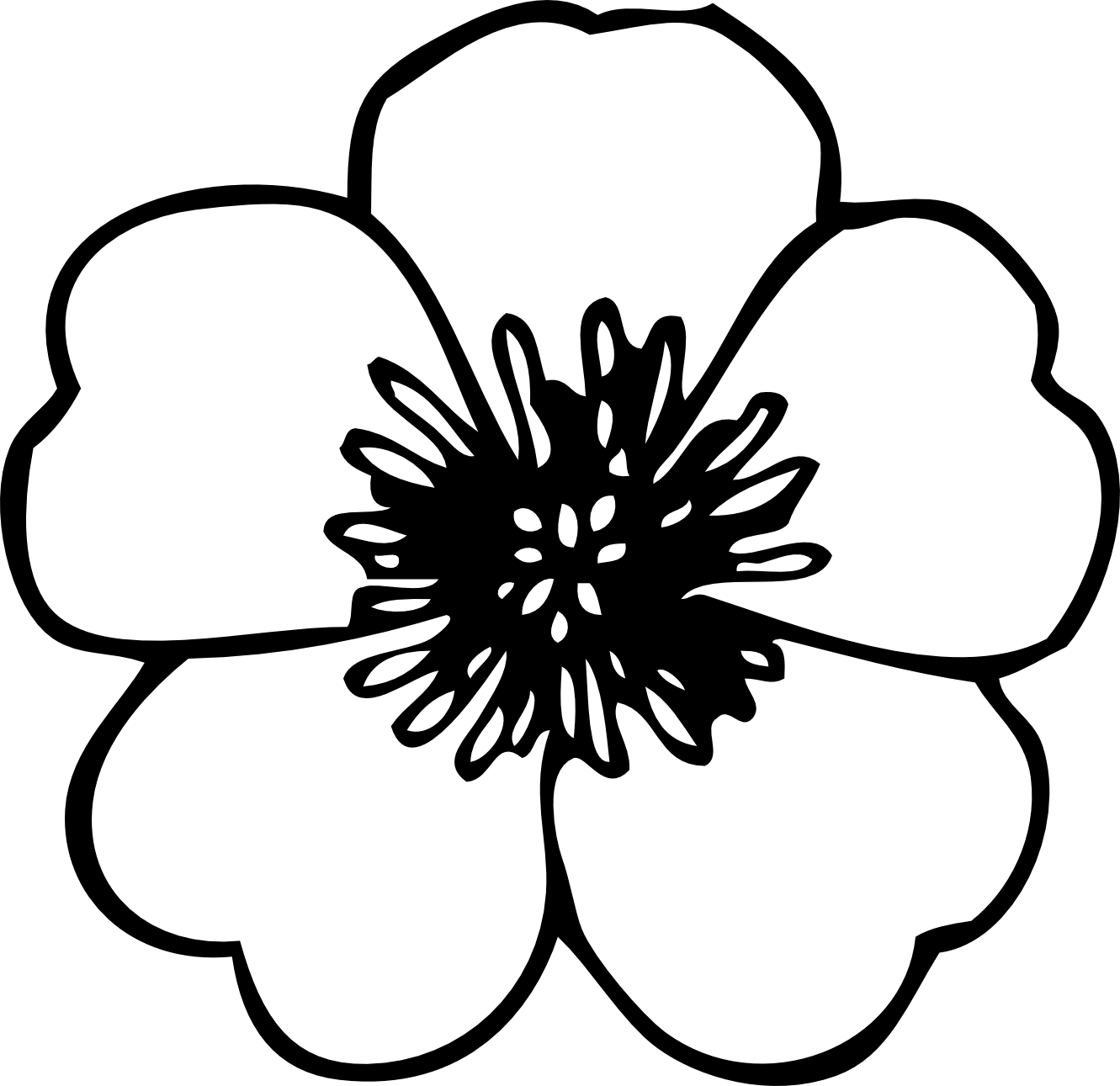 Best Flower Clipart Black And White