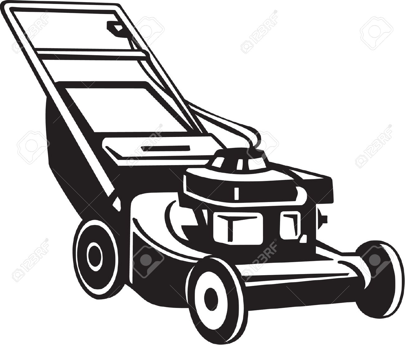 Best Lawn Mower Clipart