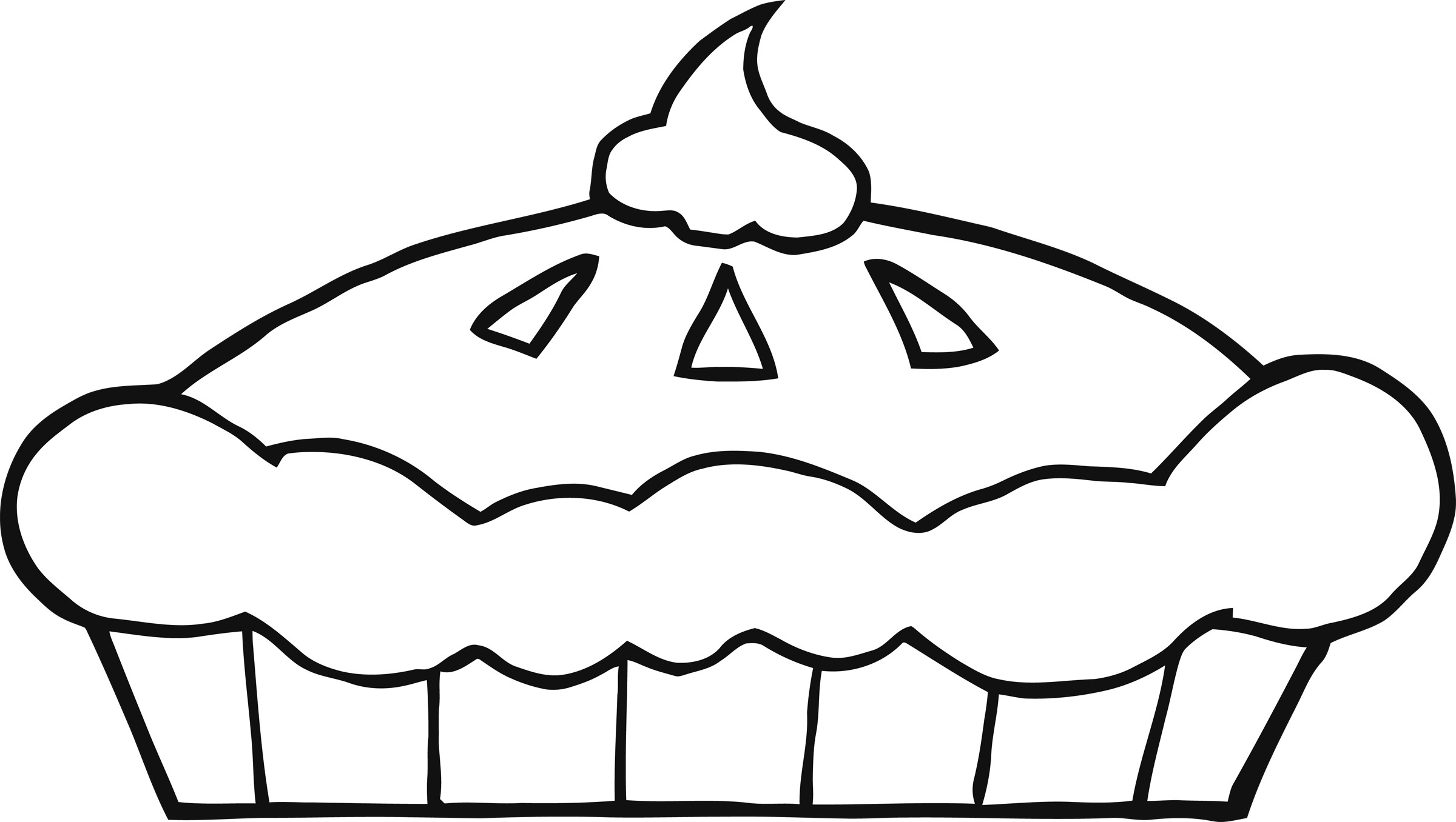 Best Pie Clipart Black And White