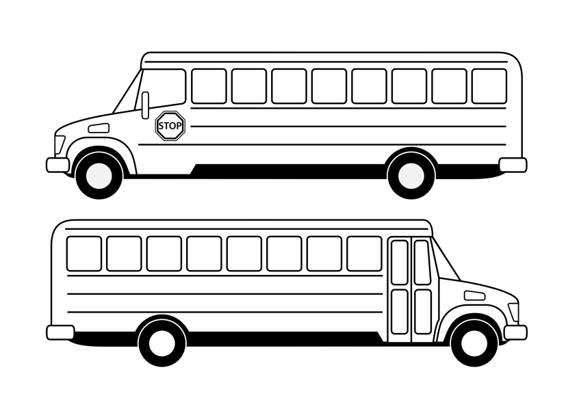 Best Bus Clipart Black And White 11187