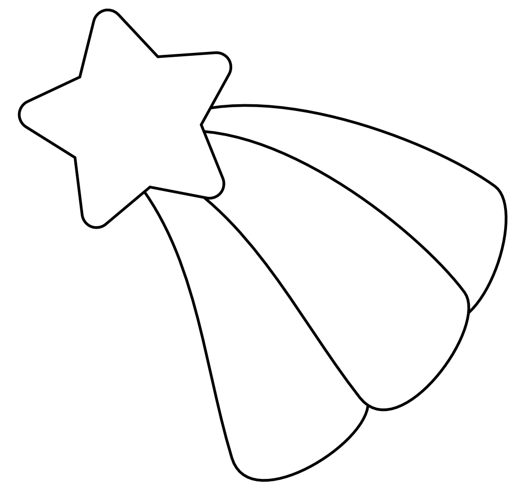 Best Shooting Star Outline