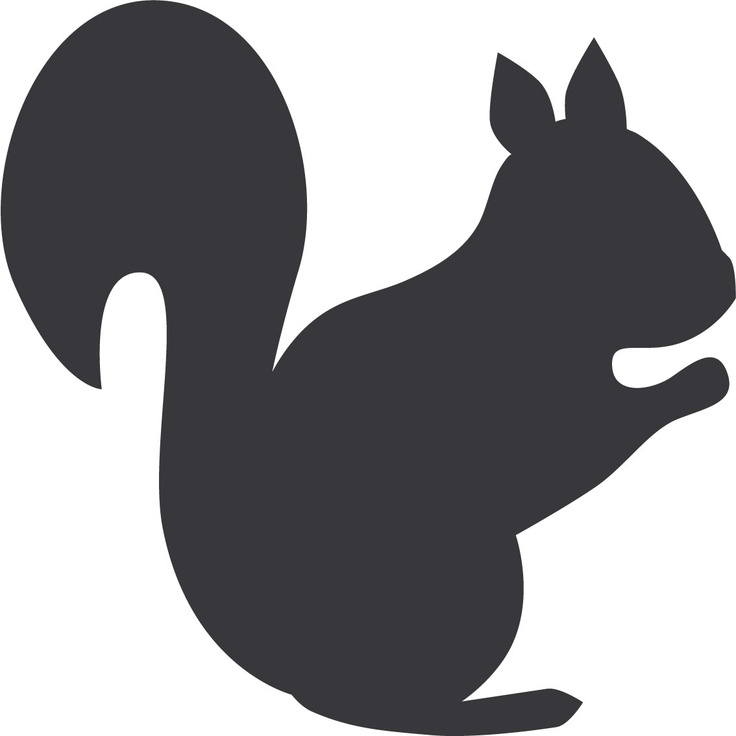 Squirrel Template Outline