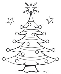 christmas outline drawings merry christmas and happy new year 2018