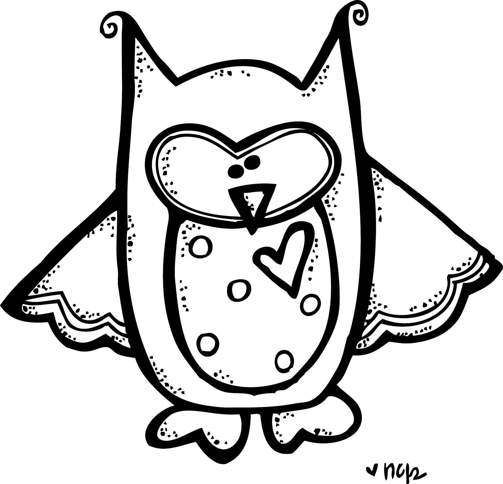 Best Owl Clipart Black And White