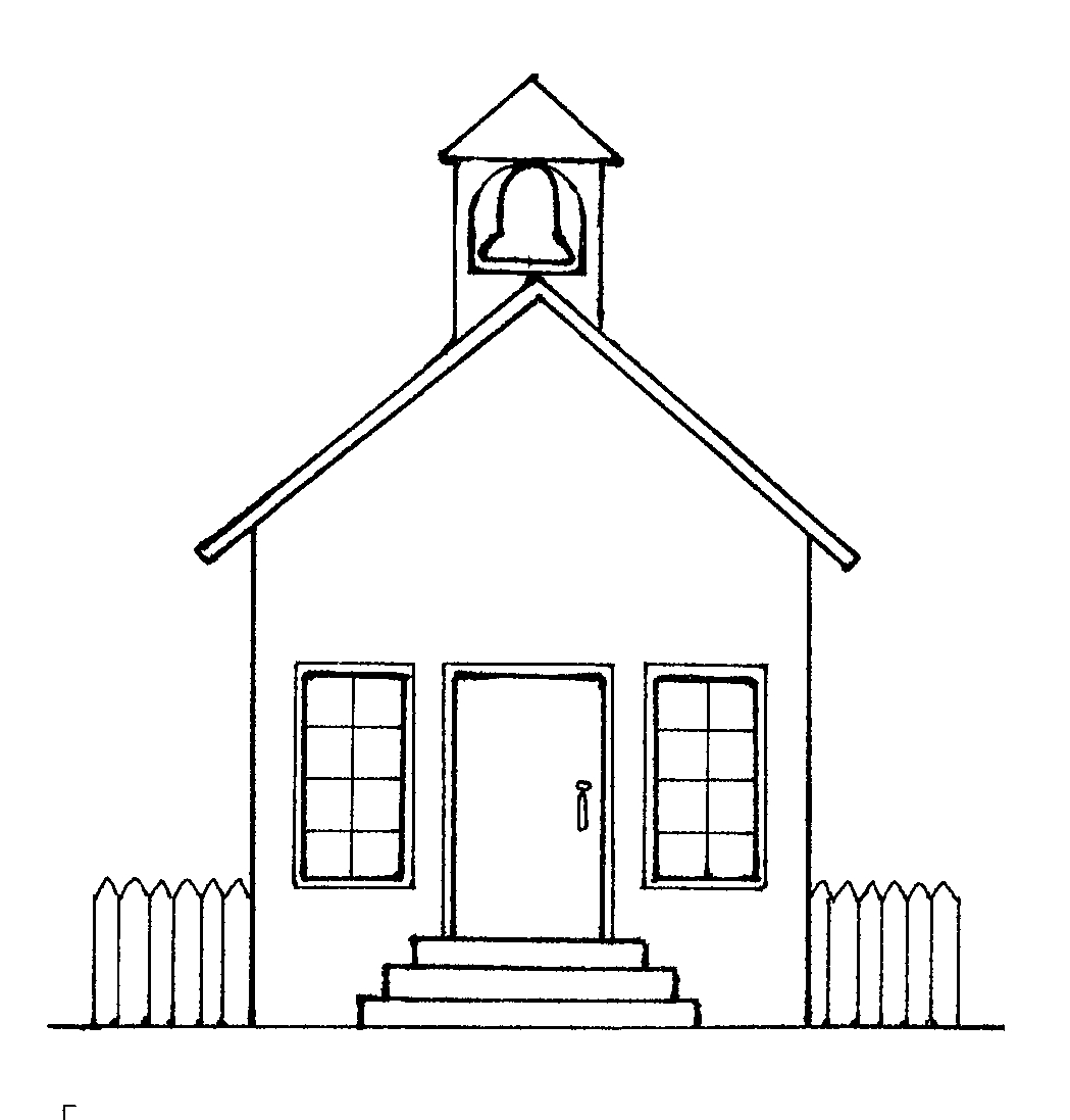 Best House Clipart Coloring Black White