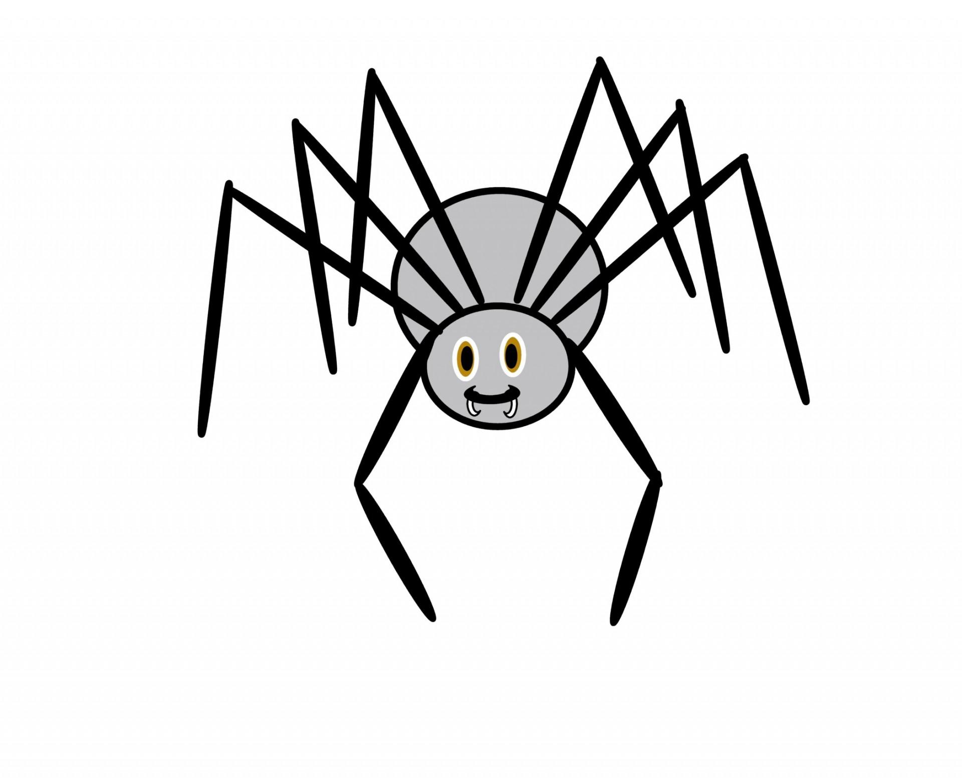 Pin Huge Spider On Web Clip Art