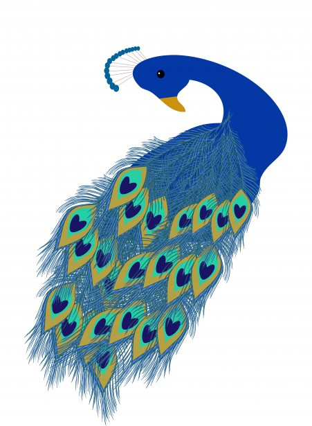 Cartoon Peacock Vector Clip Art Illustration With Simple