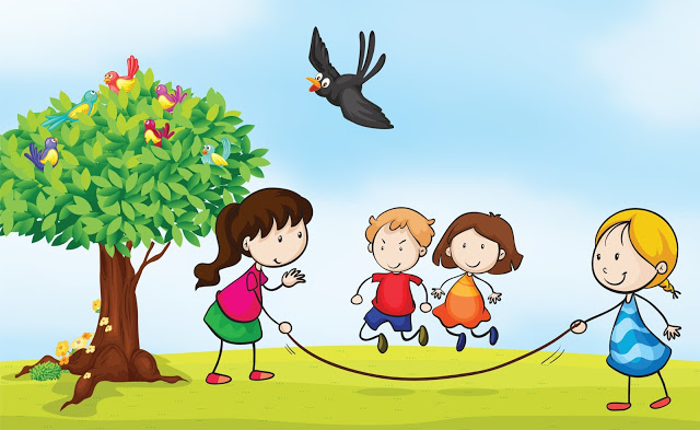 children playing kids playing clipart clipartix