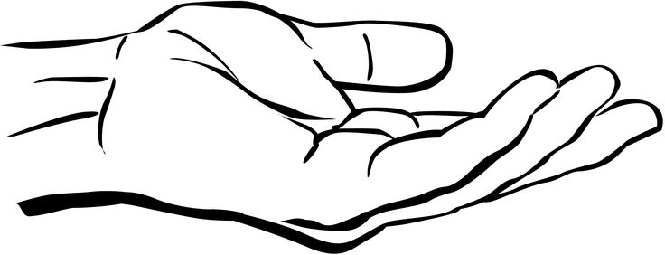 Open Praying Hands Coloring Page