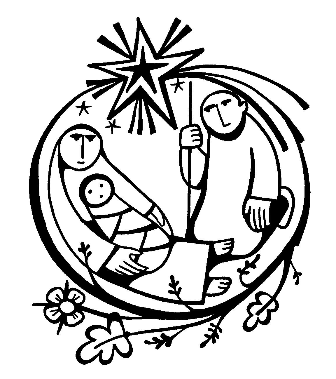Free Christian Graphic Baby Jesus In A Manger Clipart