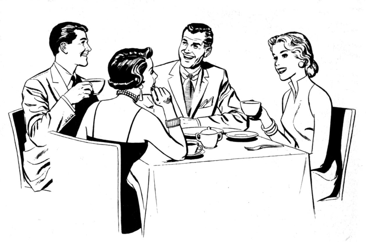 Fancy Dinner Table Clipart