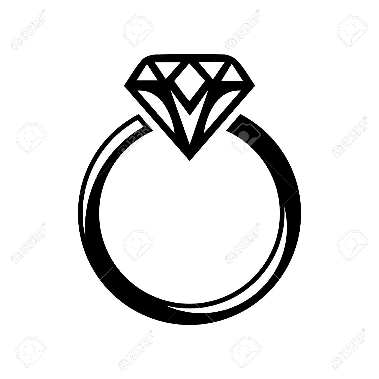 Wedding Diamond Ring Clipart Great Free Clipart Silhouette