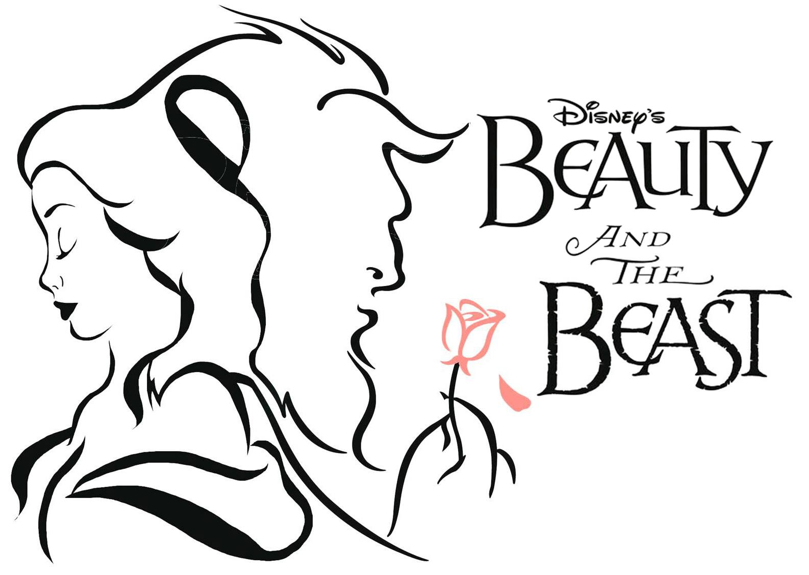 Beauty And The Beast Black White Clipart 4 Clipart Station