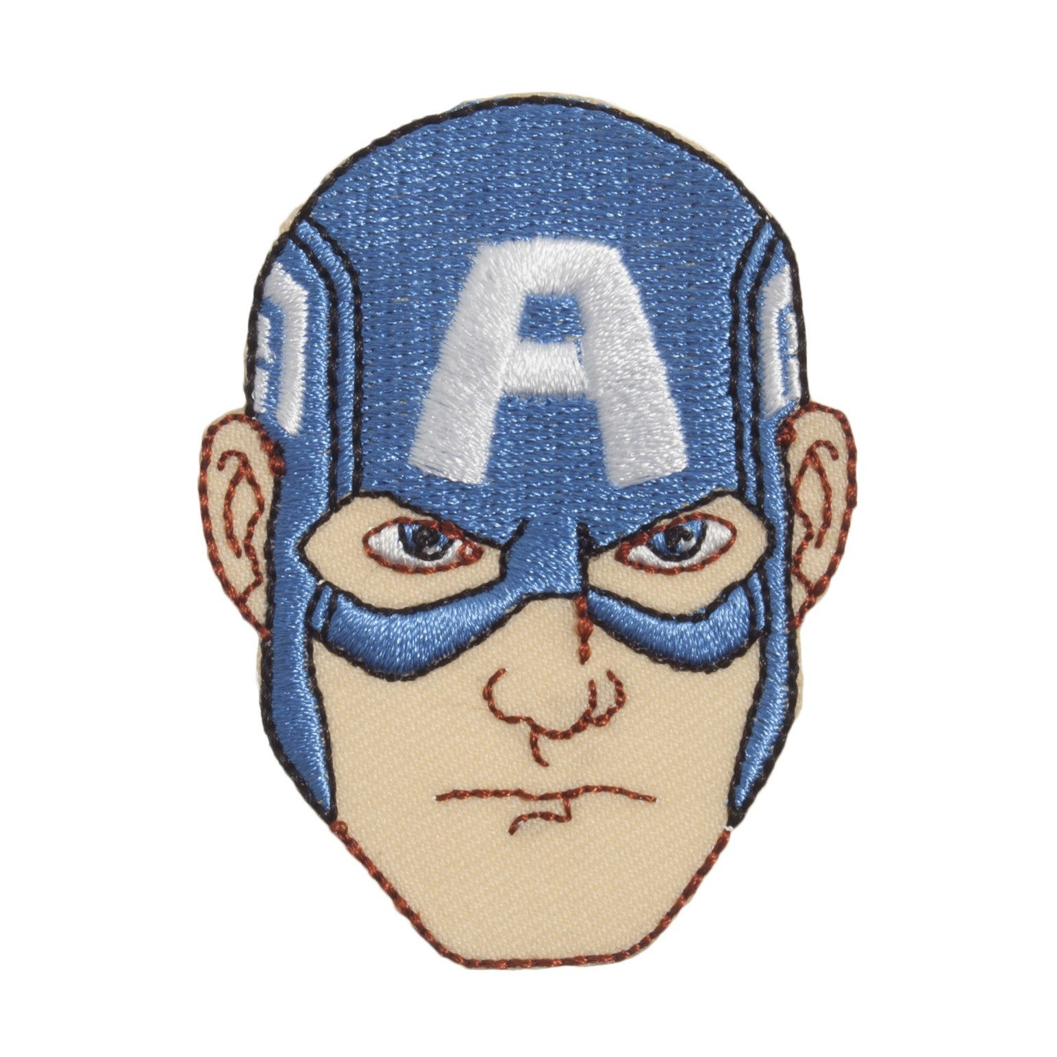 Captain America Face Drawing