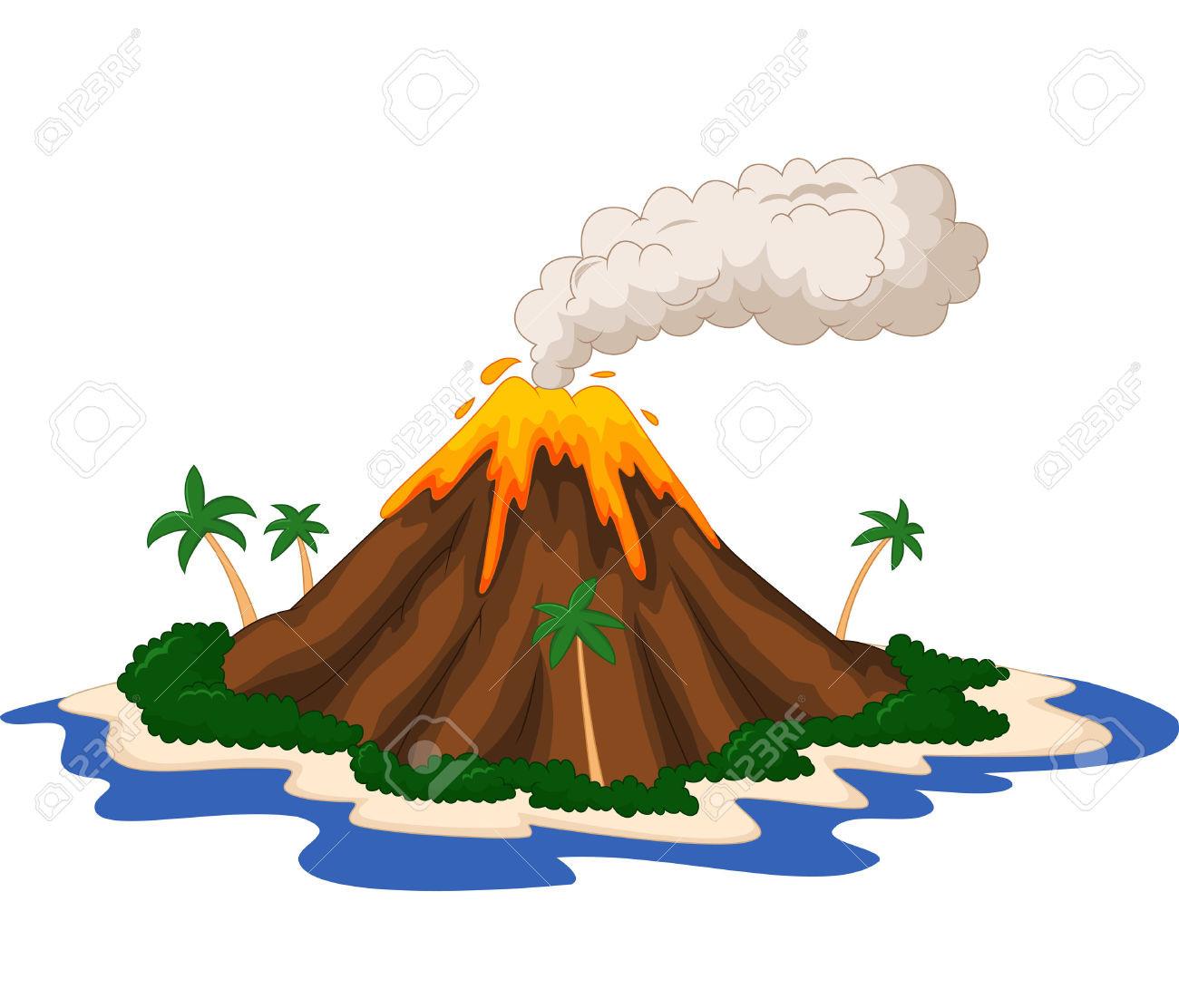 Cinder Cone Volcano Drawing