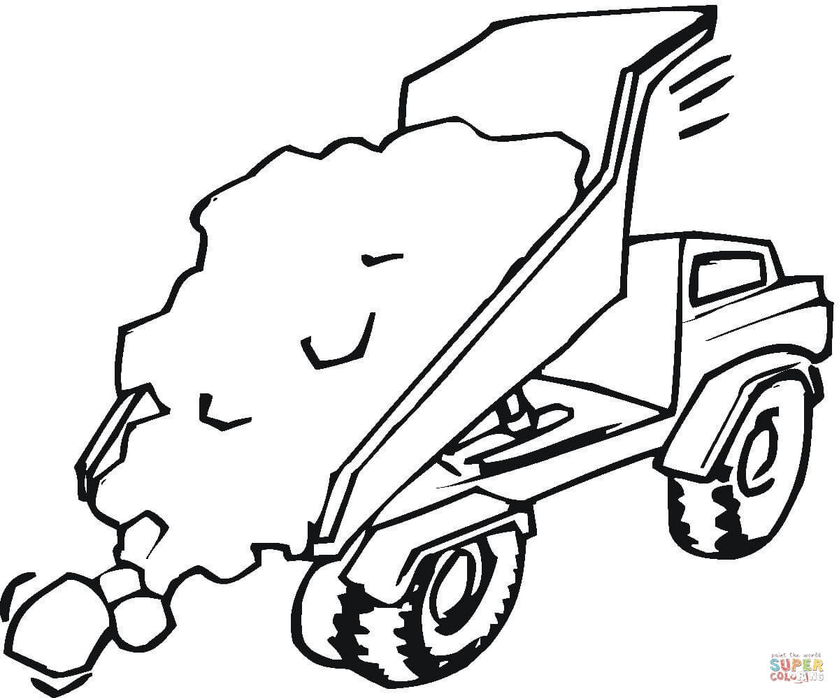 Construction Truck Drawing