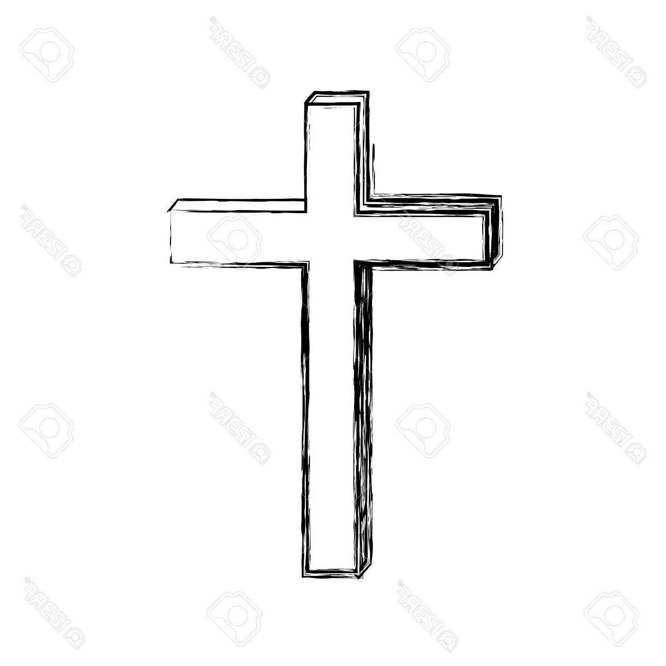 Cross Sketch Drawing