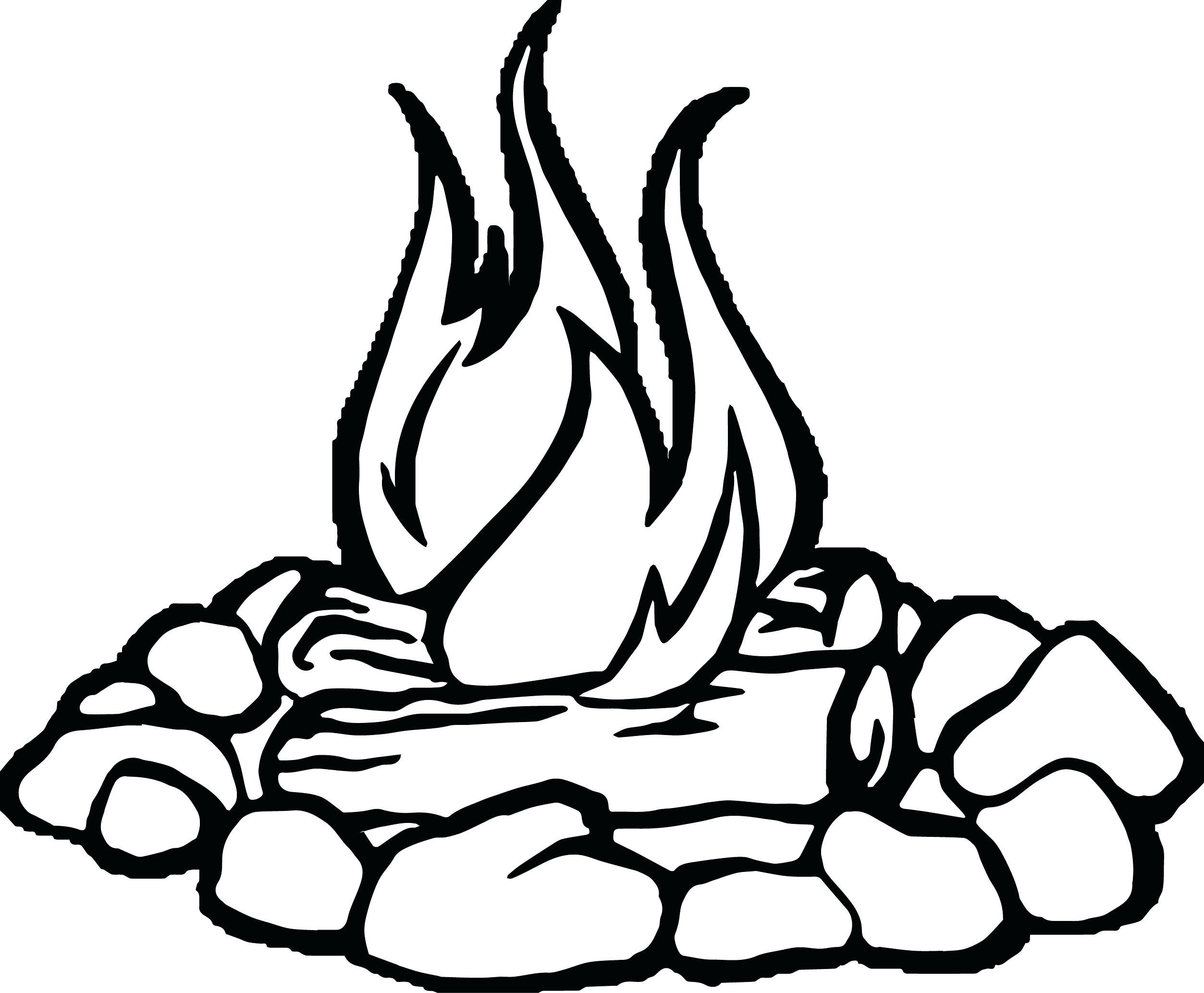 Flames Outline Drawing