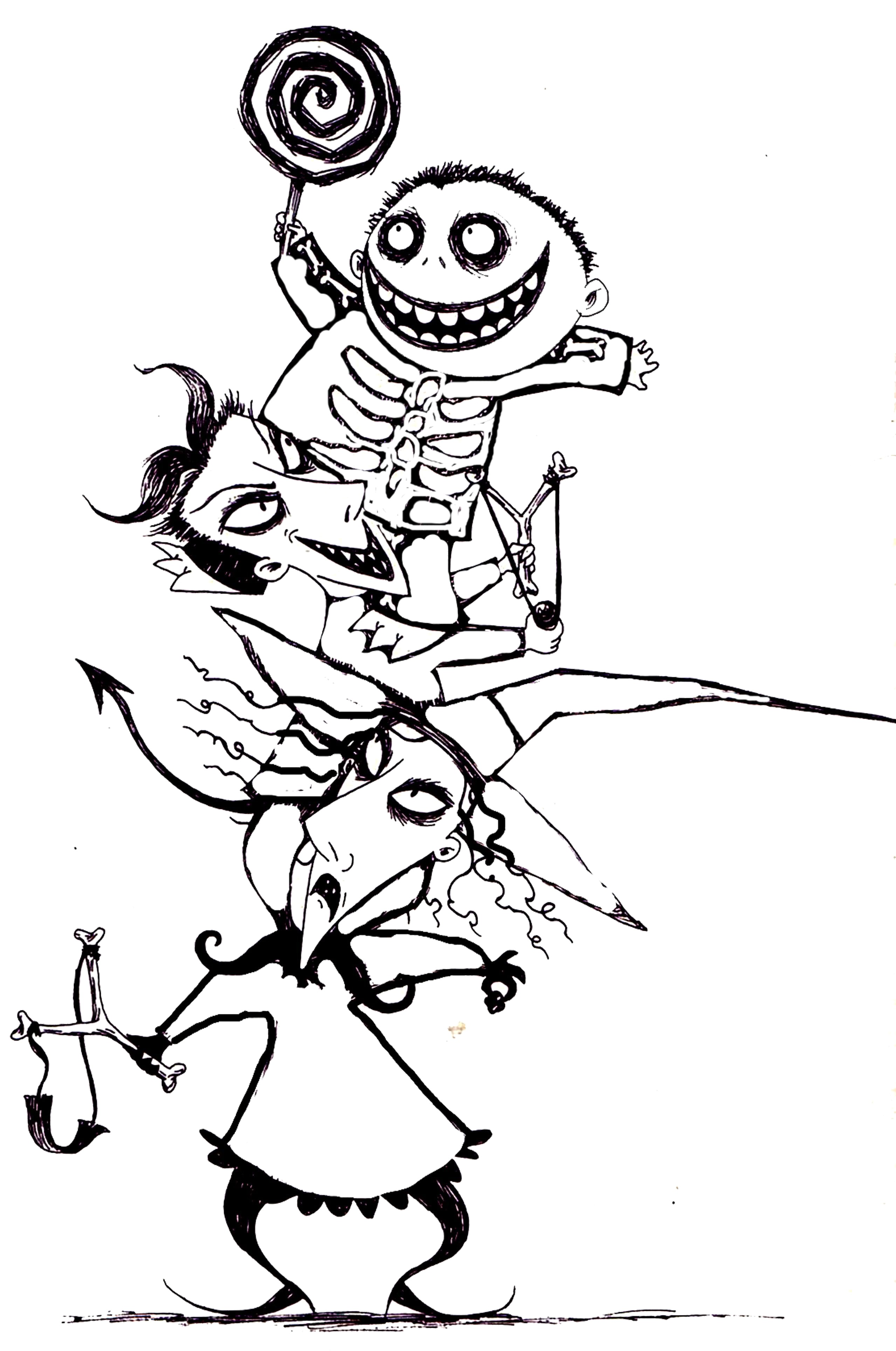 Jack Skellington And Sally Drawings