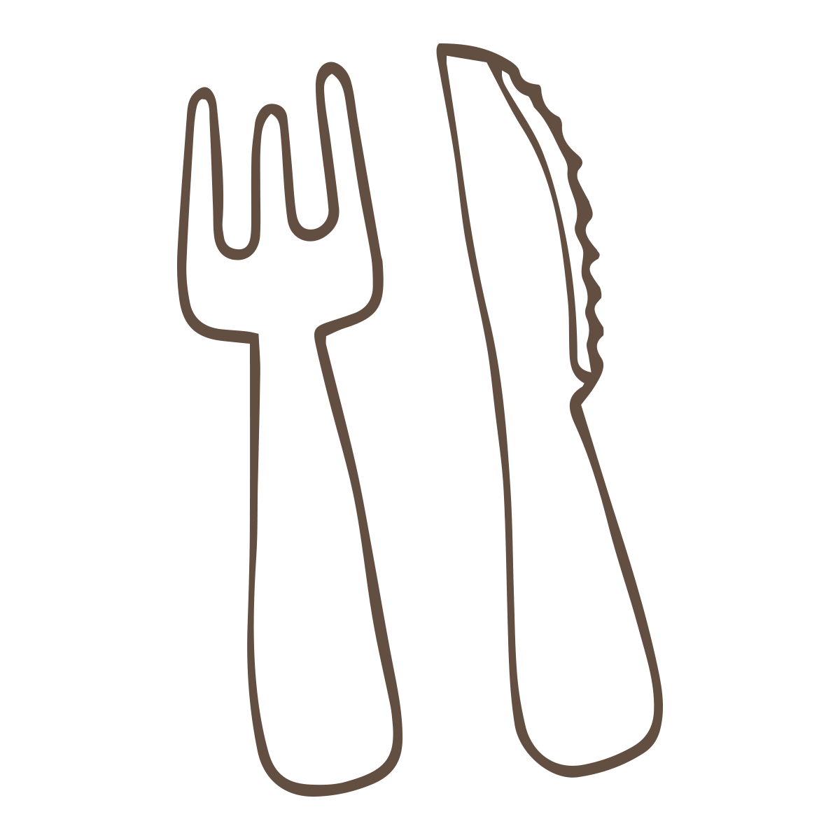 Knife And Fork Drawing