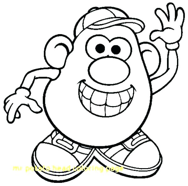 mr potato head coloring pages # 4