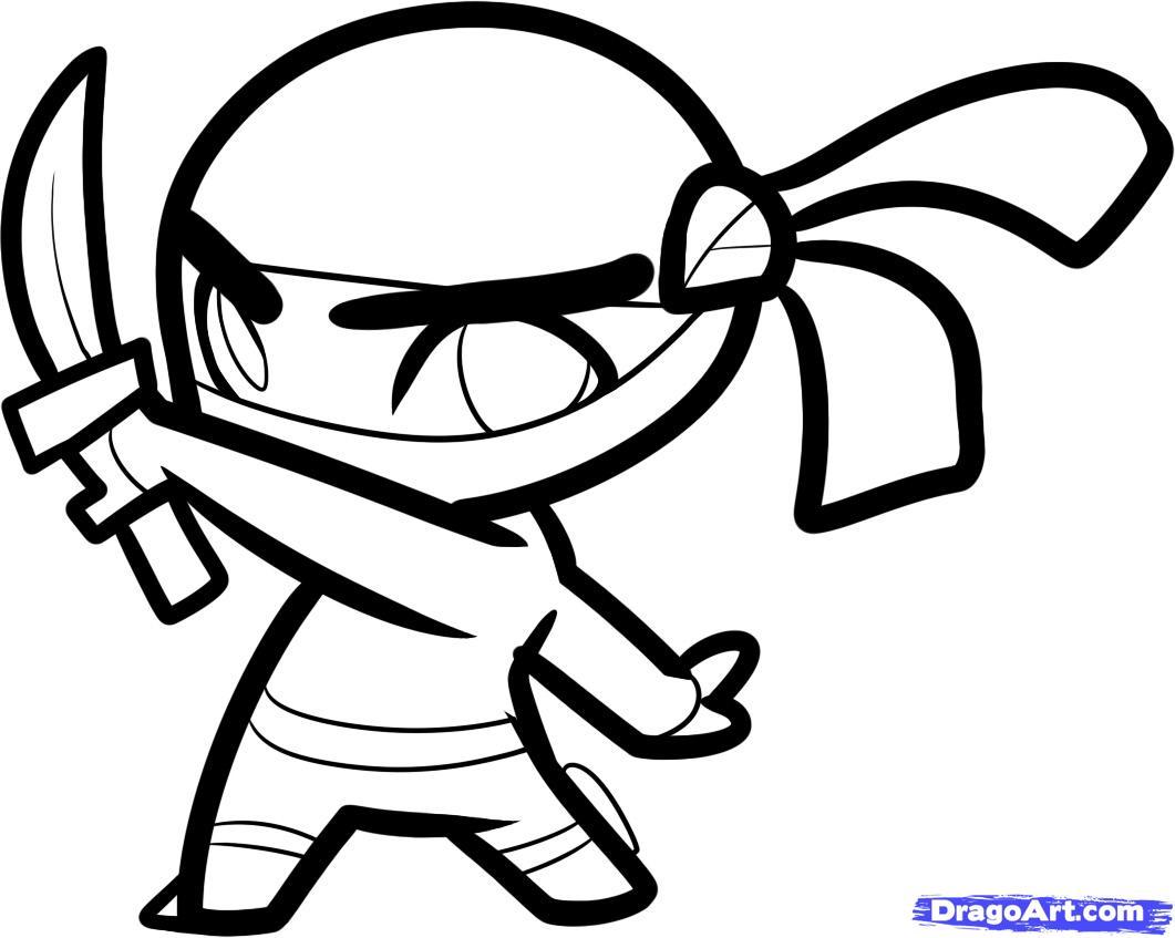 Ninja Cartoon Drawing