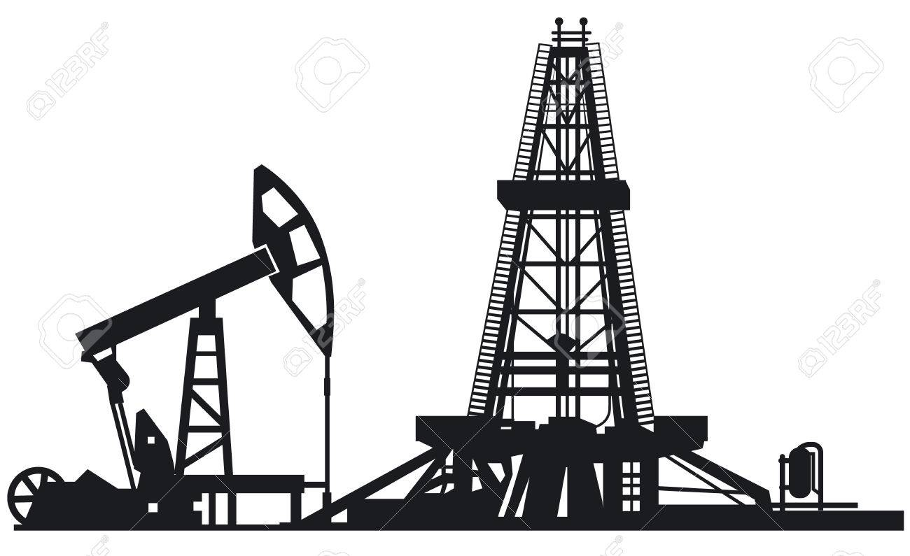 Oil Rig Drawing