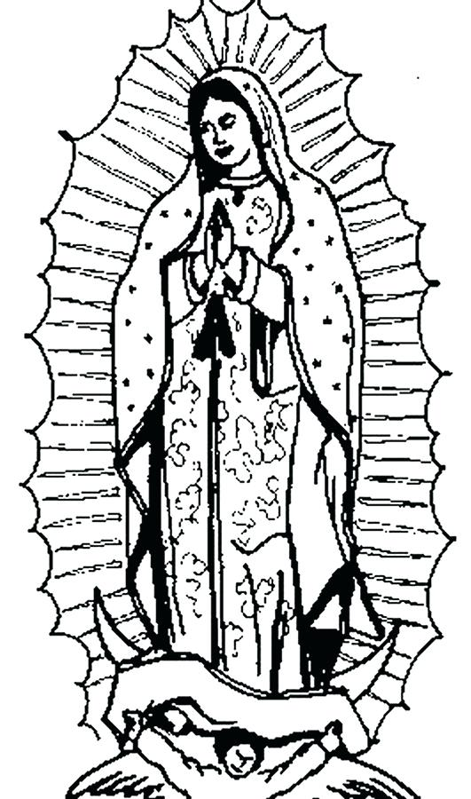our lady of guadalupe coloring page # 70