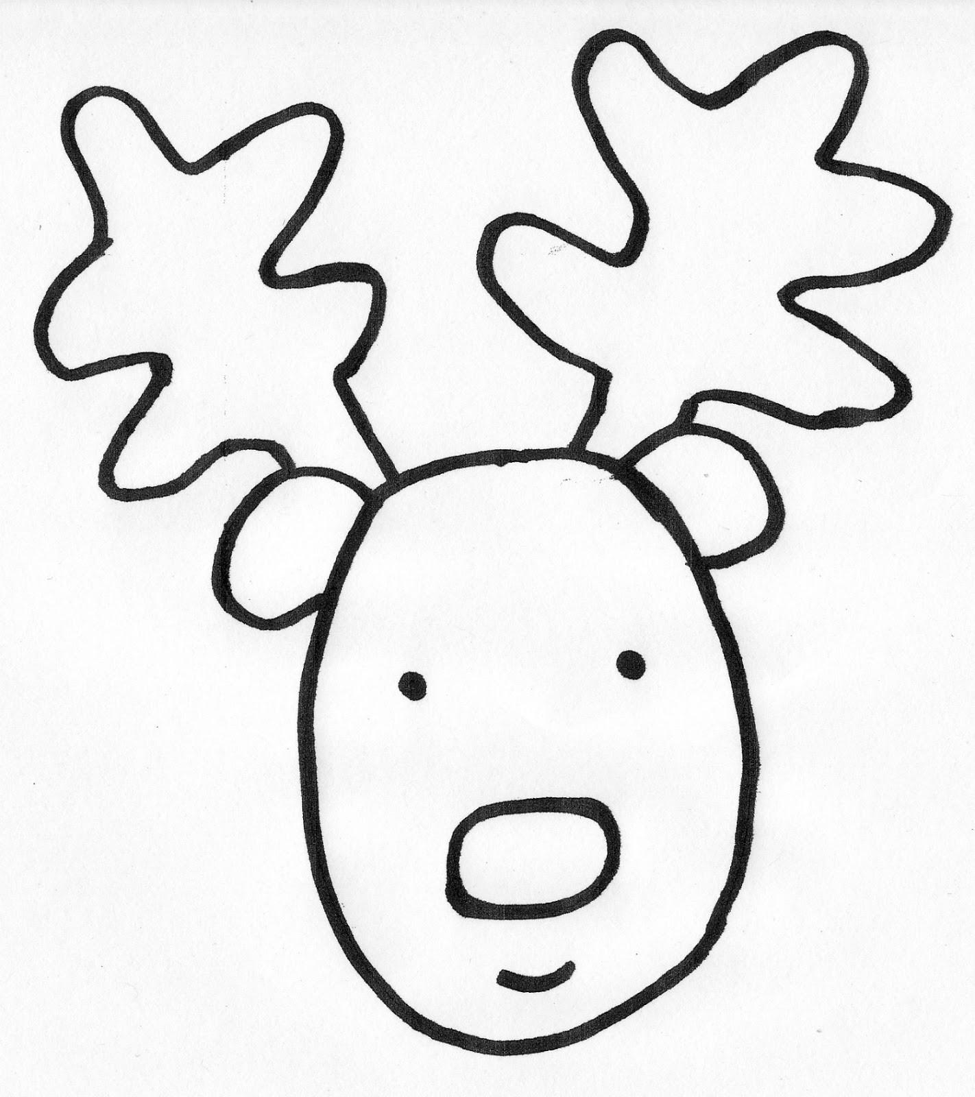 Reindeer Face Drawing