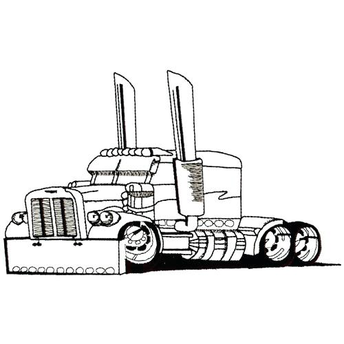 Mack Semi Truck Pencil Drawings