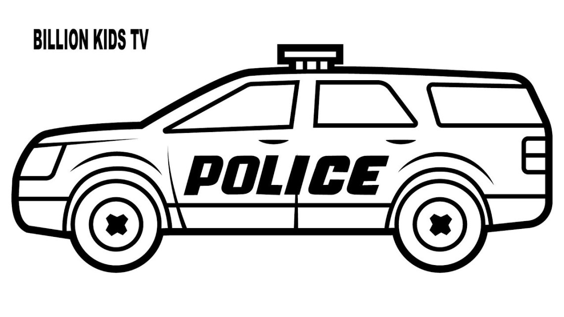 Simple Police Car Drawing | Free download on ClipArtMag