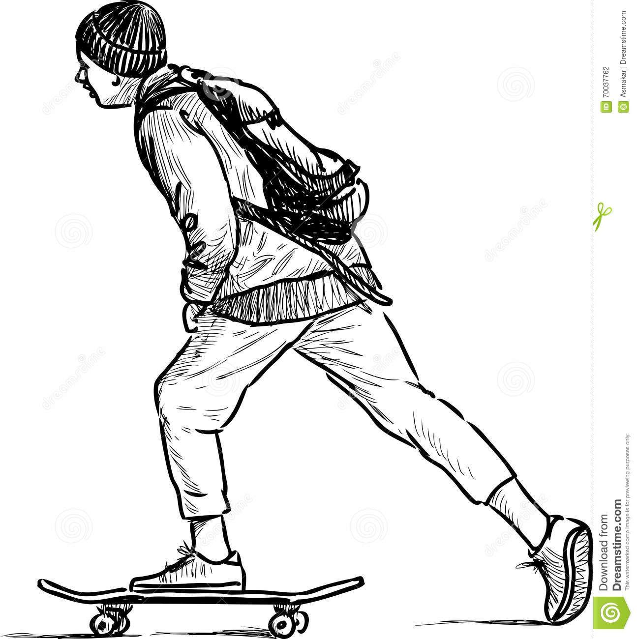 Skateboard Drawing