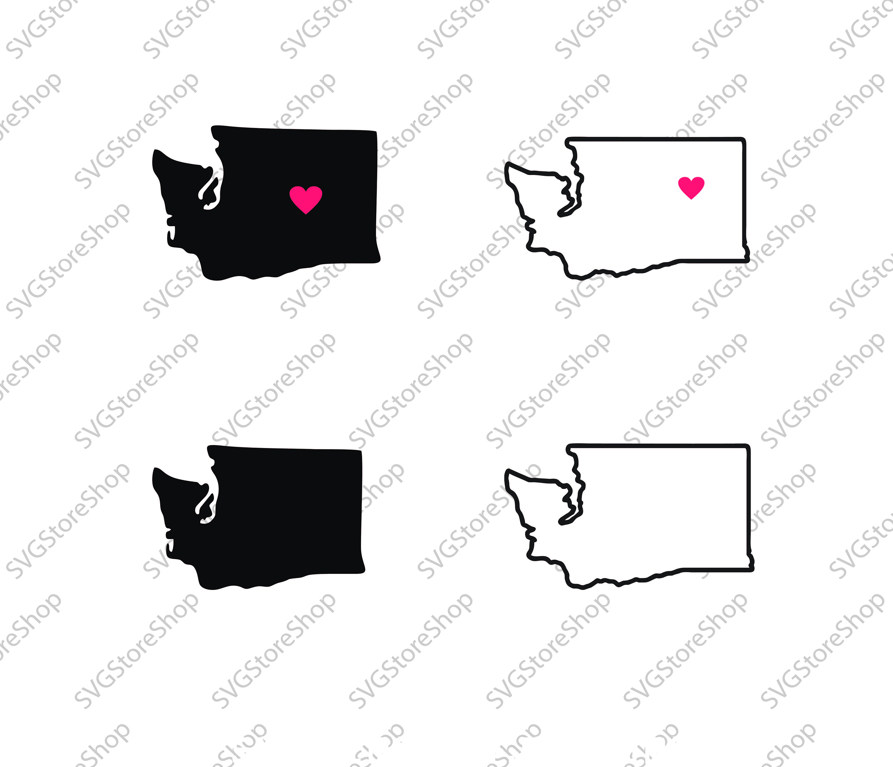 Collection Of Washington State Clipart