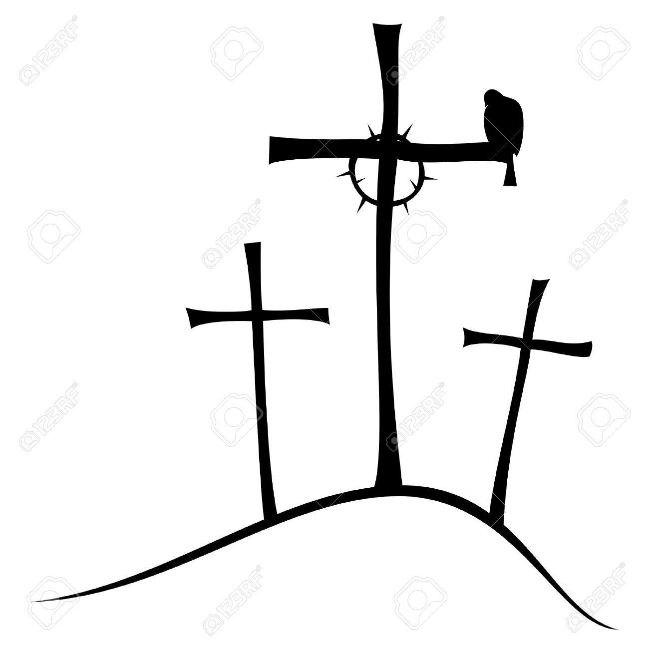 3 Crosses Clipart