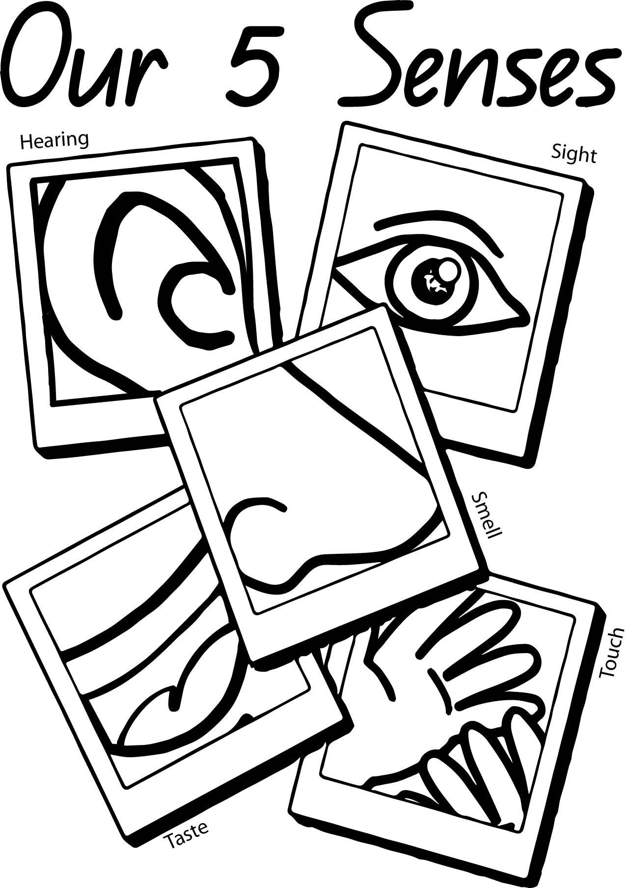 5 Senses Coloring Pages