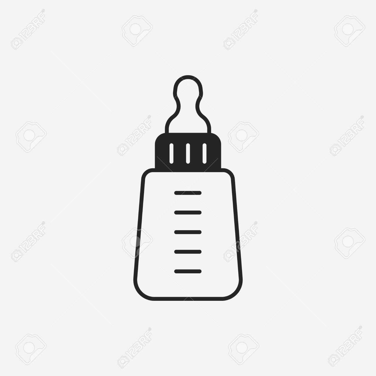 Baby Bottle Clipart Black And White