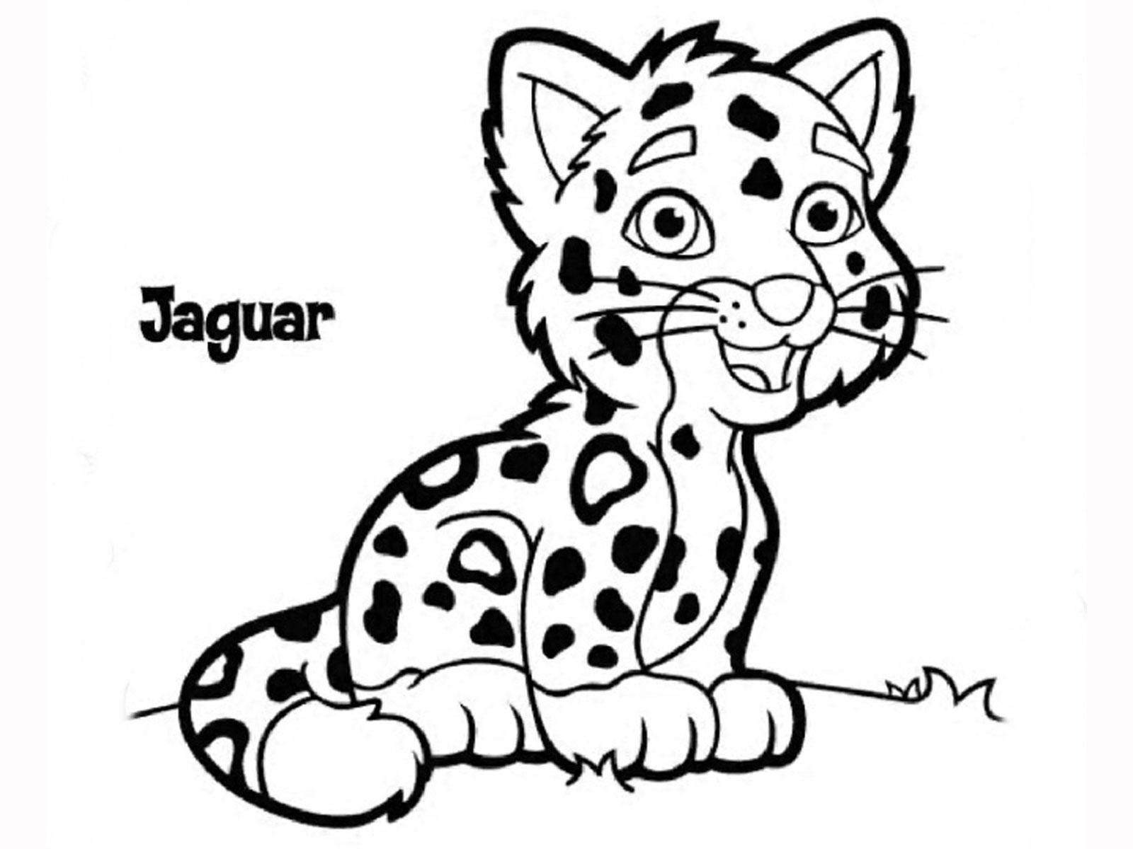 Baby Jaguar Clipart