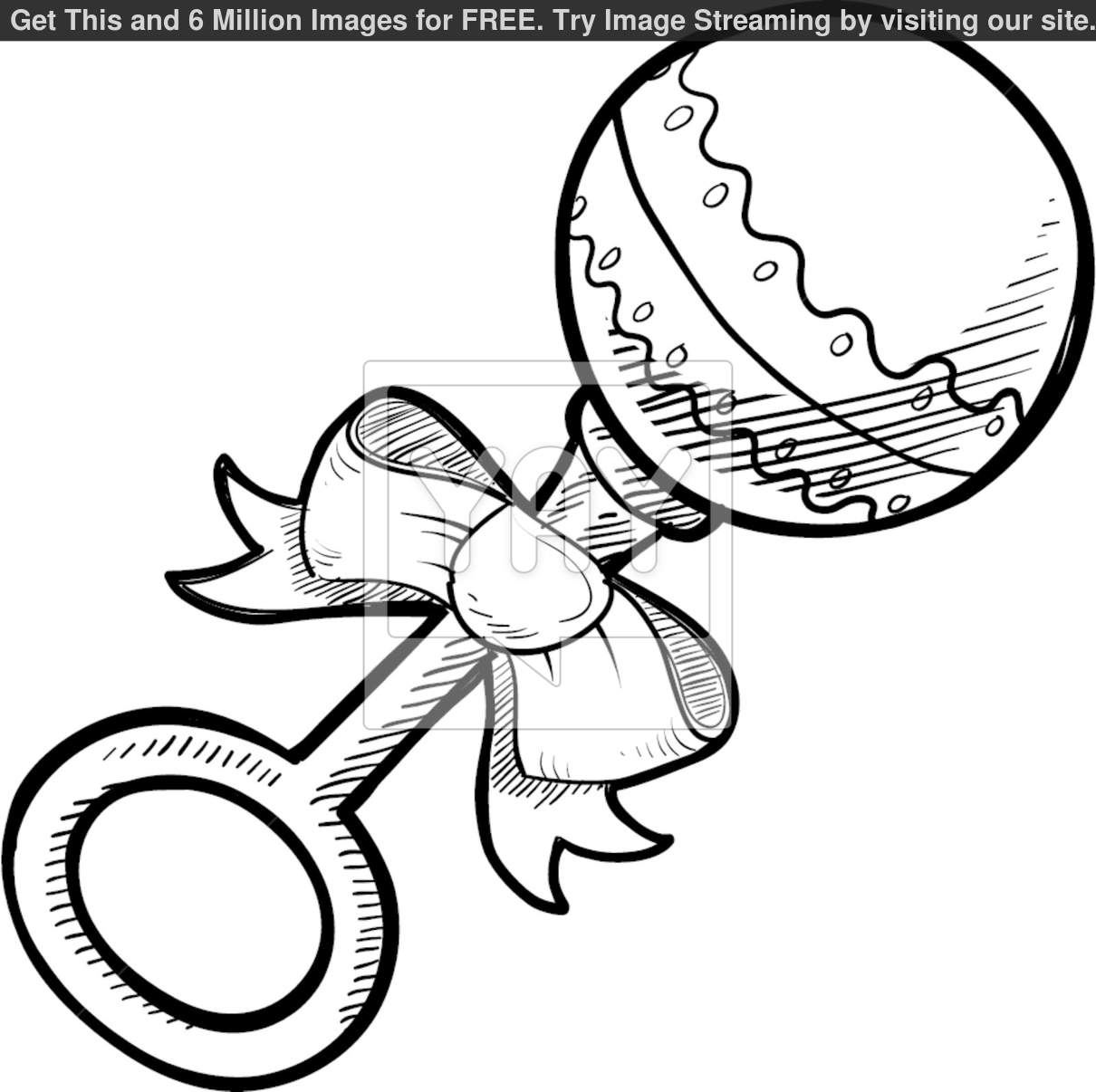 Baby Rattle Clipart