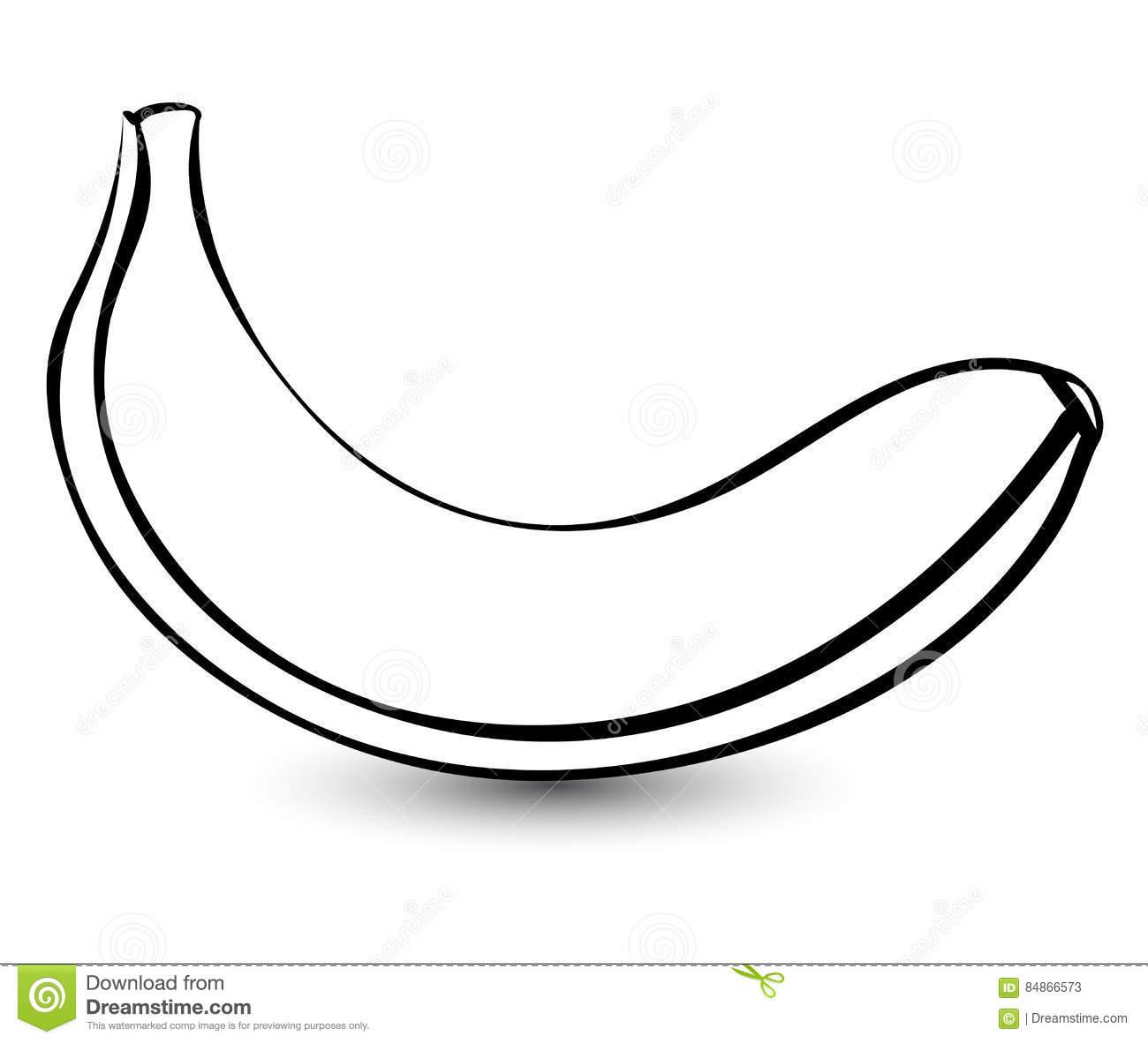 Banana Outline Clipart