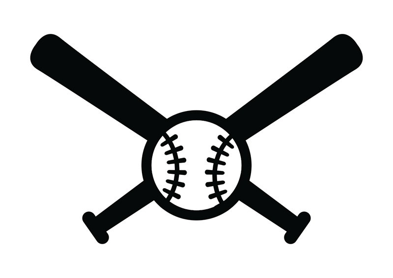 Download Baseball Bats Crossed | Free download on ClipArtMag
